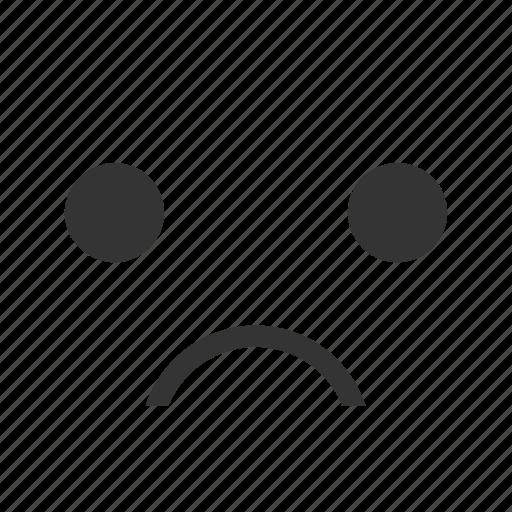 cartoon, emoticon, emotions, expression, face, reactions, sad icon