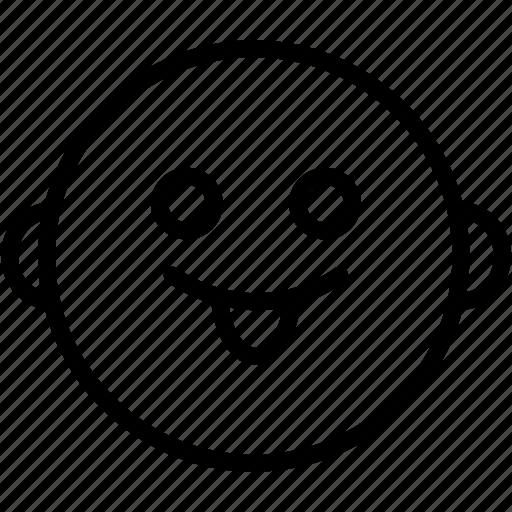 cheeky, emoji, emoticon, emotion, face, smile, smiley icon