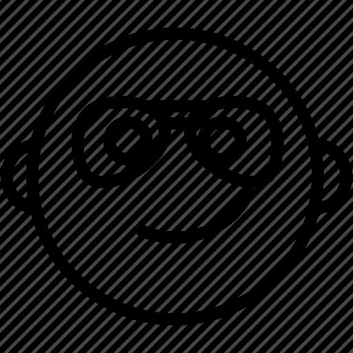 cool, emoji, emoticon, emotion, face, glasses, smiley icon