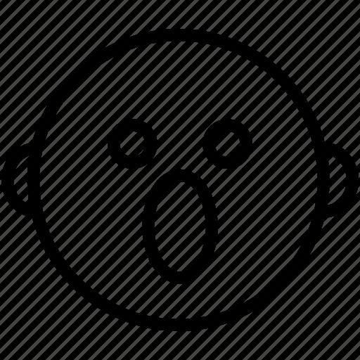 emoji, emoticon, emotion, expression, face, shocked, smiley icon