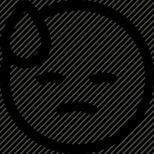avatar, chat, emotion, face, profile, sad, shy icon