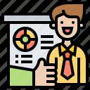 attention, meeting, presentation, professional, training icon