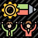 collaboration, cooperation, management, partner, teamwork icon