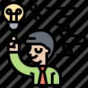 brainstorm, creativity, idea, innovation, intelligent icon