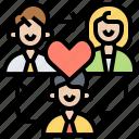 corporation, employee, organization, relations, teamwork icon