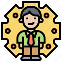 human, resources, applicant, employee, recruitment icon