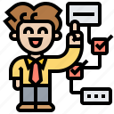 management, planning, process, progress, workflow icon