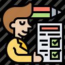 assessment, questionnaire, report, survey, test icon