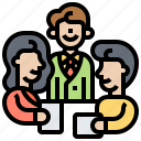 brainstorm, consult, corporate, meeting, teamwork icon