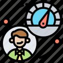 capability, efficiency, monitor, performance, work icon