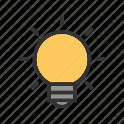 bulb, creative, creativity, idea, innovation, thinking icon
