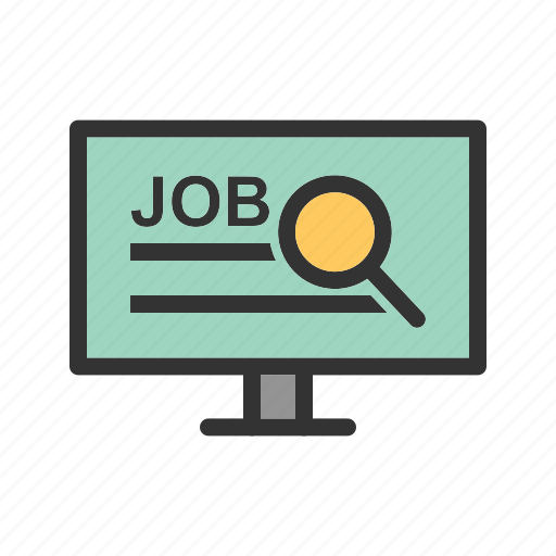 computer, employment, job, network, online, security, social icon