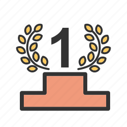 award, badge, first win, medal, medallion, position icon