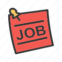 employment, hiring, job, jobs, message, recruitment, vacancy icon