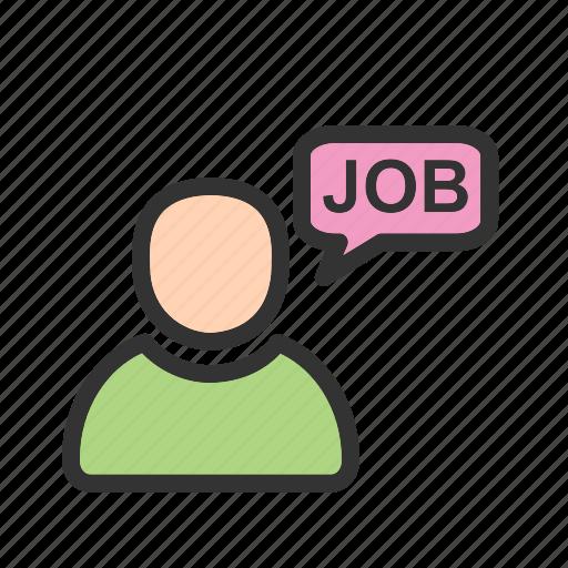 business, employee, job, meeting, people, thinking, training icon