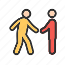 hands, handshake, interview, job, partnership, shaking, success icon