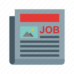 ad, employment, interview, job, newspaper, paper, resume icon