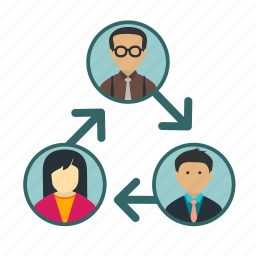 business, communication, connection, job, meeting, network, people icon
