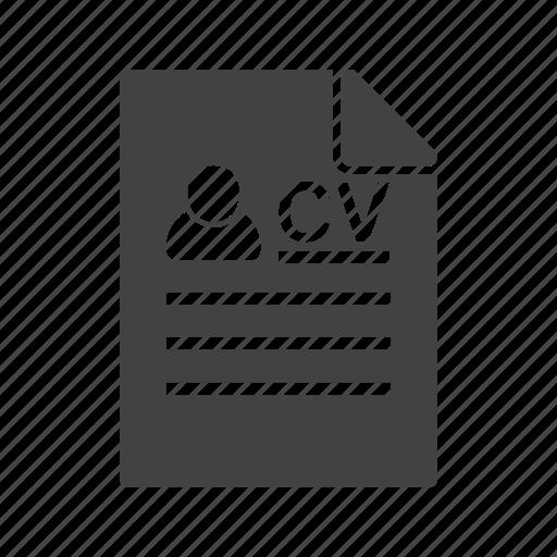 Document, employment, job, profile, resume, work icon - Download on Iconfinder