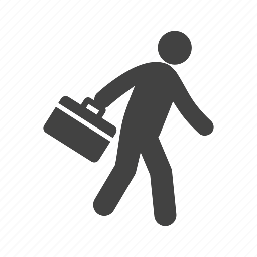 briefcase, business, case, corporate, holding, job, running icon