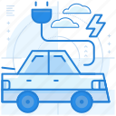 car, charge, electric, vehicle icon
