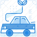 car, green, powered, vehicle icon
