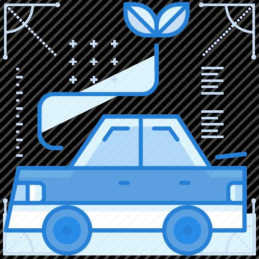 car, green, powered, vehicle icon