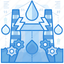 hydro, plant, power icon
