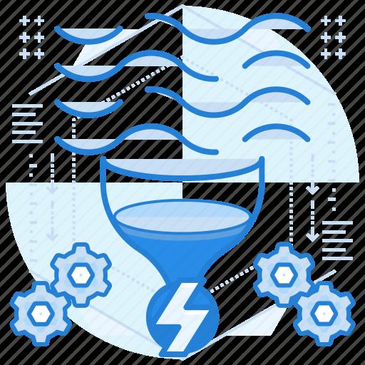 energy, power, river, tidal icon