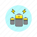 battery, charge, connect, electricity, energy, power, require icon