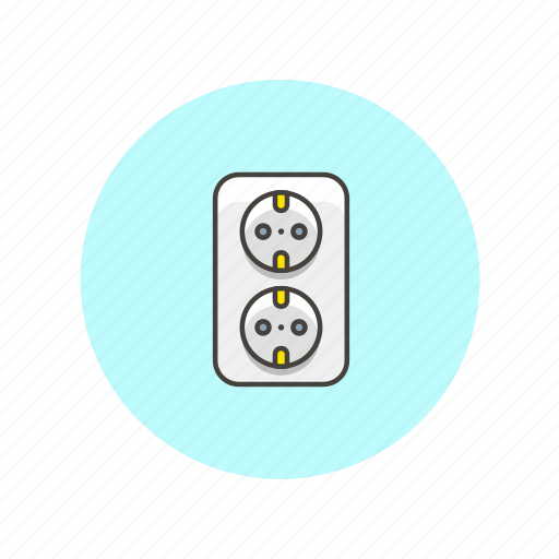 connector, electricity, energy, female, plug, power, socket icon