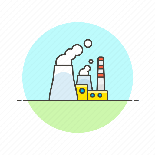 eco, energy, factory, fission, nuclear, power, powerplant icon
