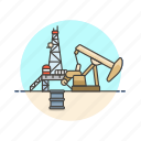 energy, factory, jack, oil, power, pump, well icon