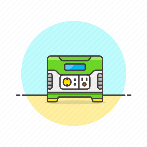 charge, electricity, energy, generator, power, supply, unit icon