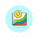 analysis, diagram, energy, graph, power, presentation, report, usage icon