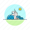 cell, ecology, electricity, energy, factory, powerplant, solar icon