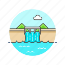 dam, energy, powerplant, water icon
