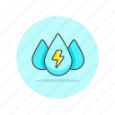energy, water, drink, drop, preserve, save, eco icon