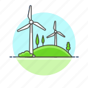energy, mill, wind, charge, eco, electricity, nature