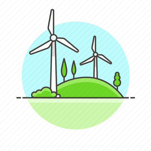 charge, eco, electricity, energy, mill, nature, wind icon