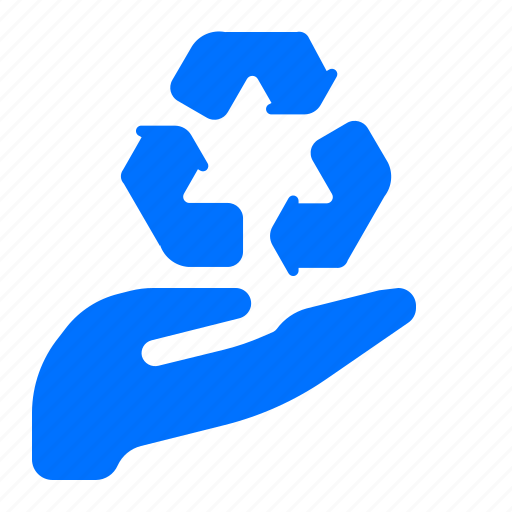 care, ecology, recycle icon