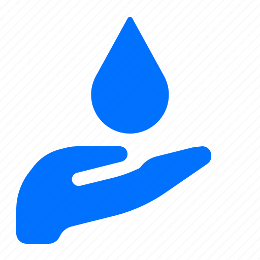 care, ecology, water icon