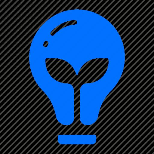 energy, green, lightbulb, power icon