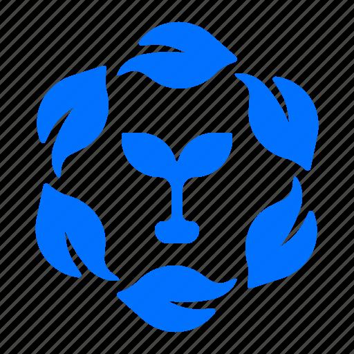 energy, leaves, plant, power icon