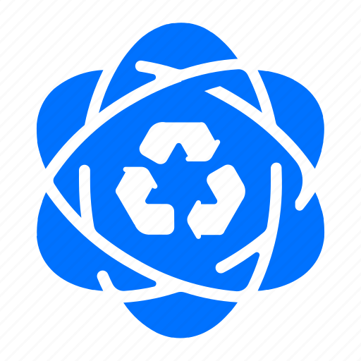 energy, power, recycle, science icon