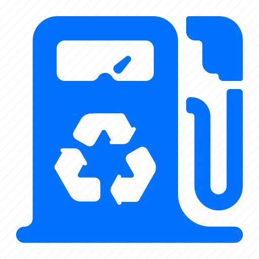 energy, gasoline, power, recycle icon