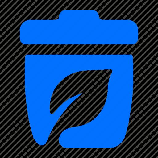 bin, can, plant, trash icon