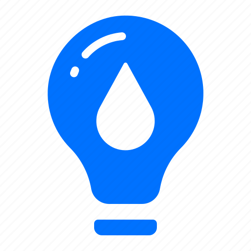 energy, lightbulb, power, water icon