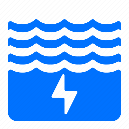 electric, energy, power, water icon