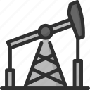 derrick, energy, oil, power, rig icon